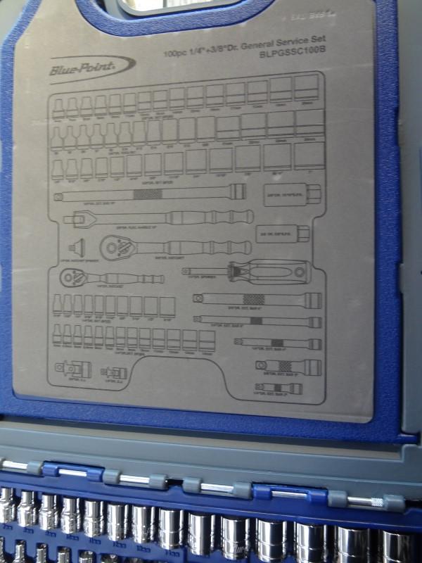 BLUE POINT GENERAL SERVICE SOCKET SET BLPGSSC100B