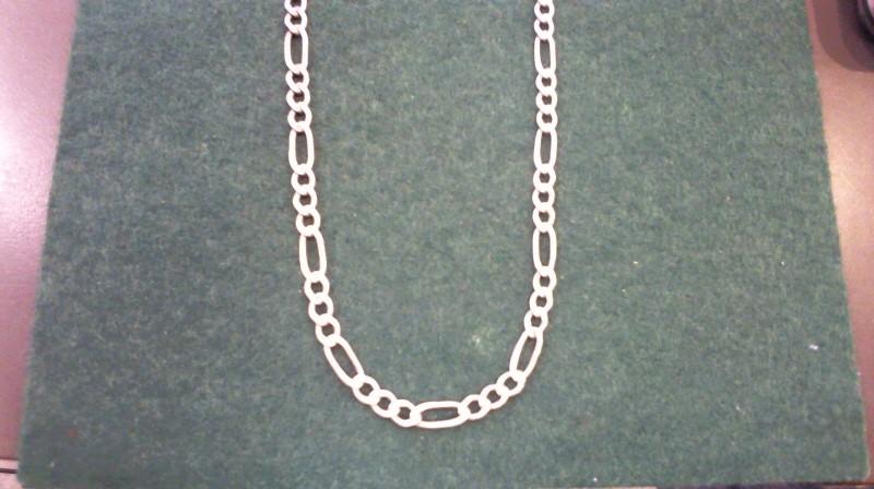 """28"""" Silver Figaro Chain 925 Silver 34.3g"""