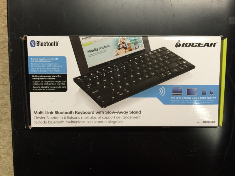IOGEAR Multi-Link Bluetooth Keyboard GKB631B