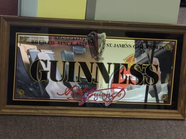 """Guinness """"Brewed since 1759"""" Bar Mirror Framed  31X16"""