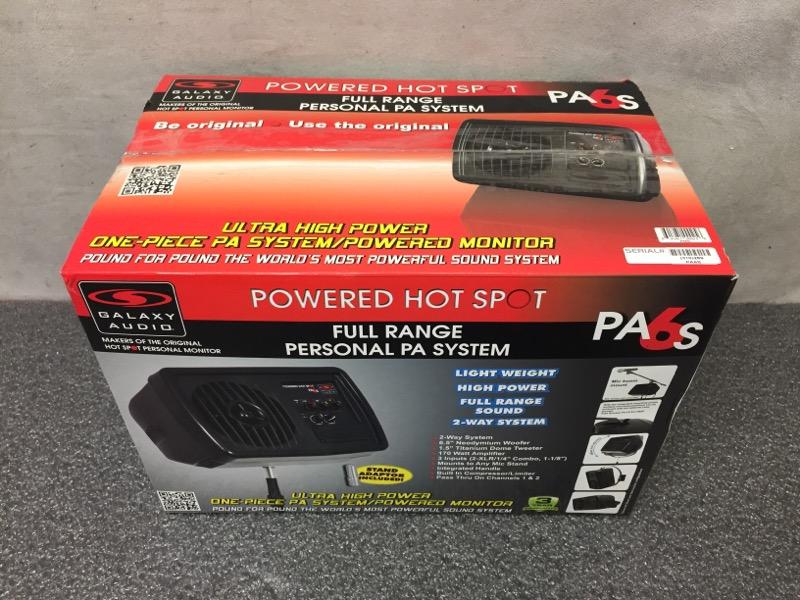 GALAXY AUDIO PA6S POWERED PERSONAL HOT SPOT MONITOR/PA SYSTEM