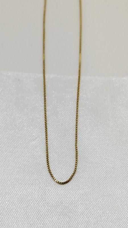 "20"" Gold Box Chain 14K Yellow Gold 1.55g"