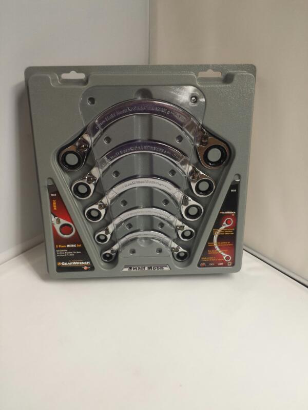 GearWrench 9850 Metric Half Moon Double Box Ratchet Set 5pc
