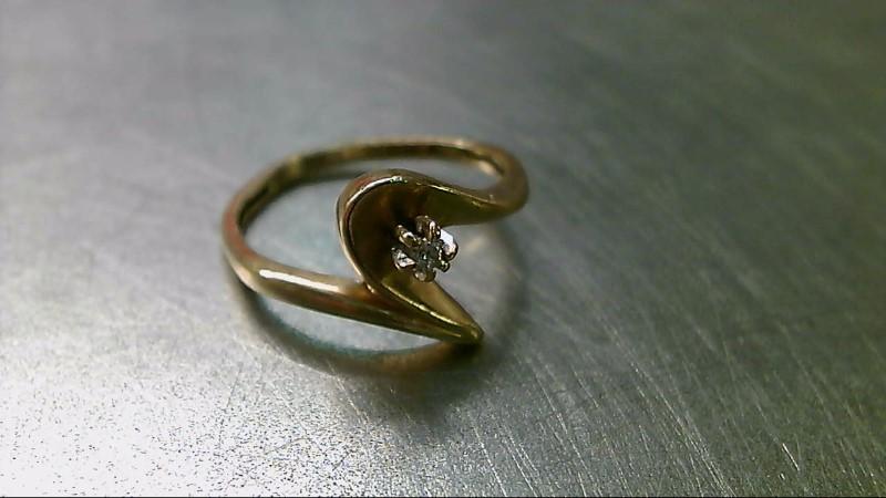 Lady's Diamond Fashion Ring .02 CT. 10K Yellow Gold 2.3g