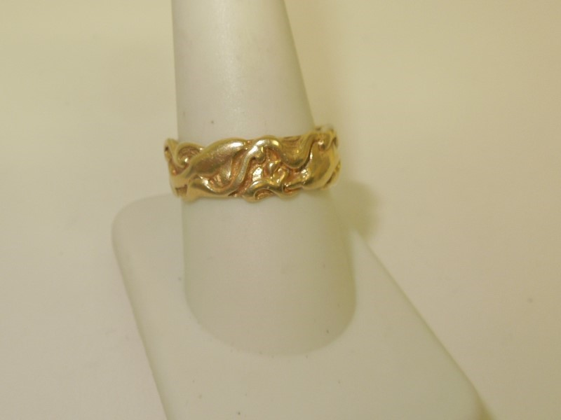Gent's Gold Ring 14K Yellow Gold 7.8g Size:10