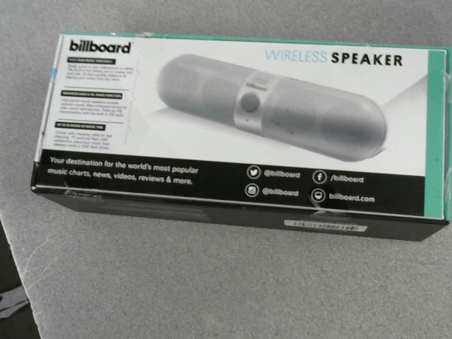 BILLBOARD Speakers BLUETOOTH SPEAKER