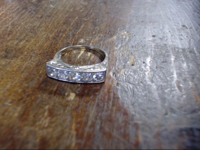 Lady's Diamond Cluster Ring 5 Diamonds 1.55 Carat T.W. 14K White Gold 5.4g