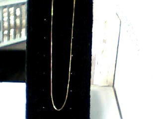 "23"" Gold Box Chain 14K Yellow Gold 0.7dwt"