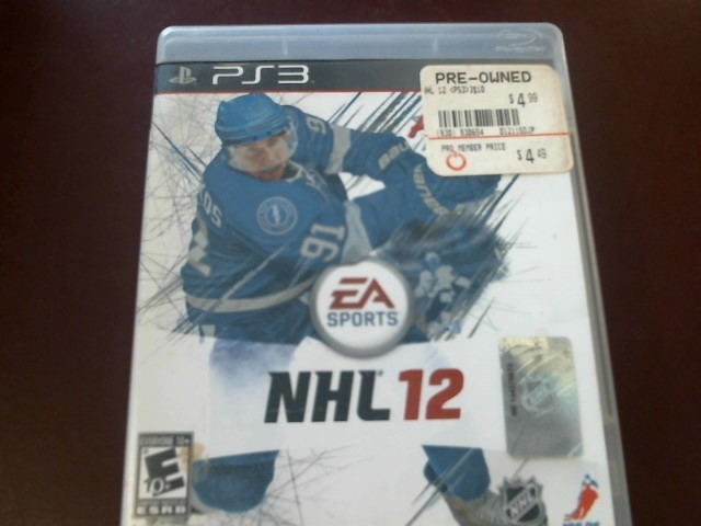 SONY PS3 NHL 12