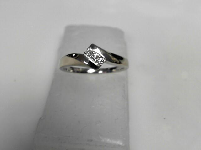 Diamond Ring 3 Diamonds .06 Carat T.W. 10K White Gold 1.81g