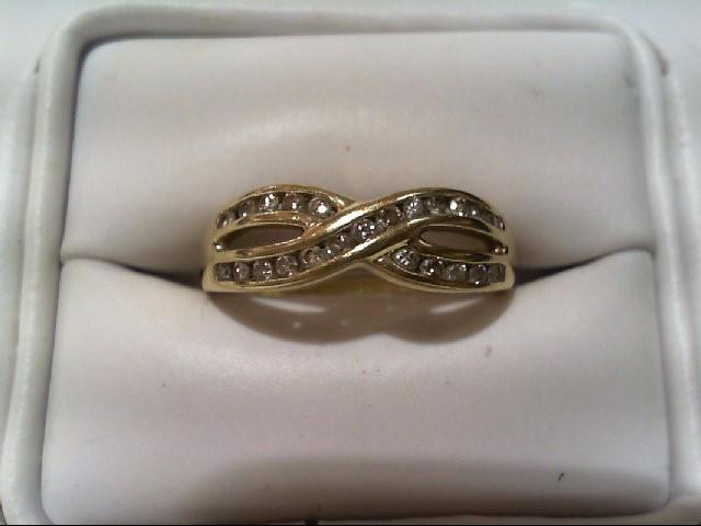 Lady's Diamond Wedding Band 23 Diamonds .46 Carat T.W. 10K Yellow Gold 2.7g