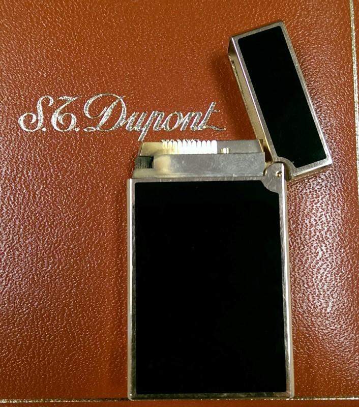 S.T. Dupont Briquet De Poche LD Black Chinese Laquer