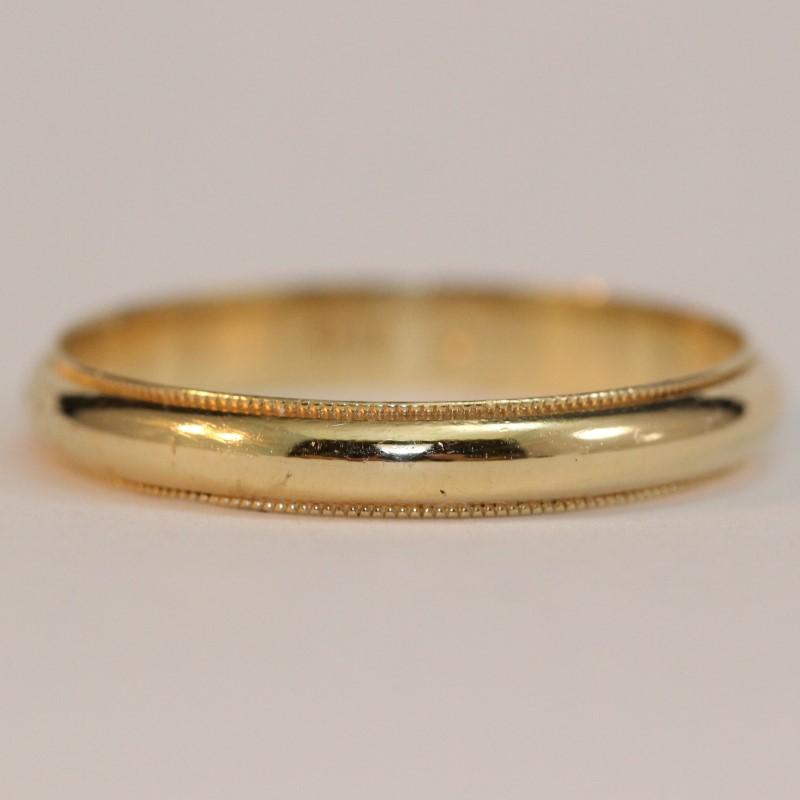 Men's 14K Yellow Gold Wedding Band Ring Size 13.5