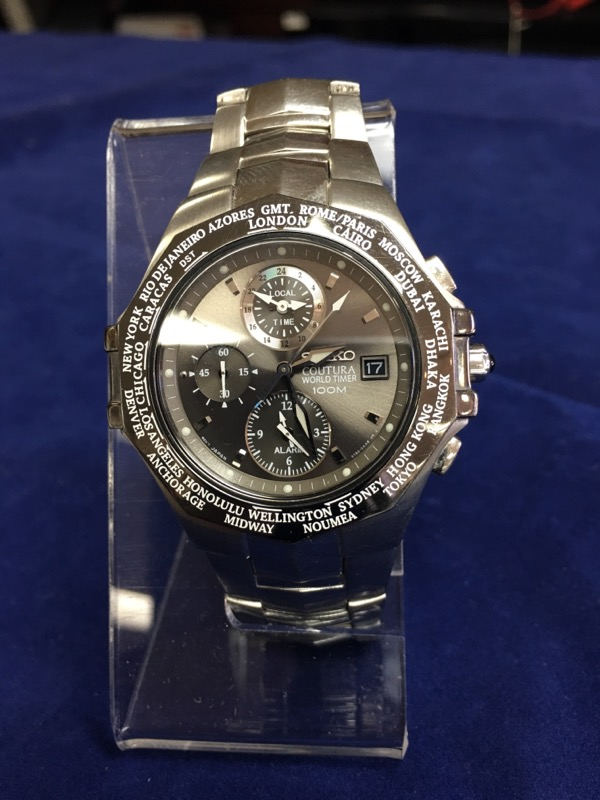 SEIKO Gent's Wristwatch 5T82-0AA0 COUTURA WORLD TIMER