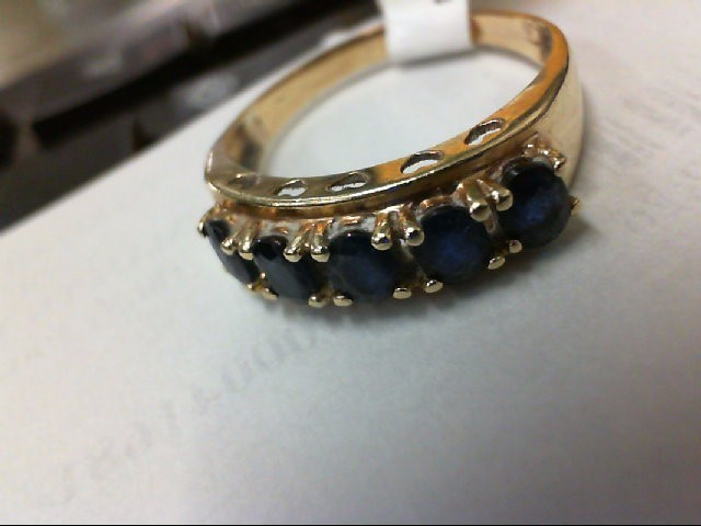 Blue Stone Lady's Stone Ring 10K Yellow Gold 2.1g