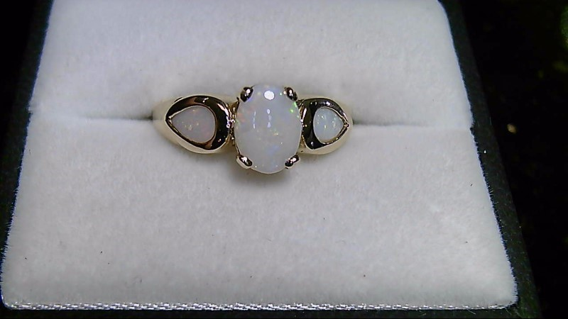 Opal Lady's Stone Ring 14K Yellow Gold 2.9g Size:7.5