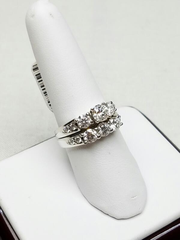 Lady's Diamond Wedding Set 14 Diamonds 1.91 Carat T.W. 18KWG 9.3g