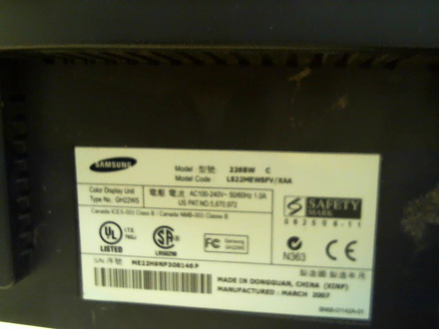 SAMSUNG Monitor 226BW