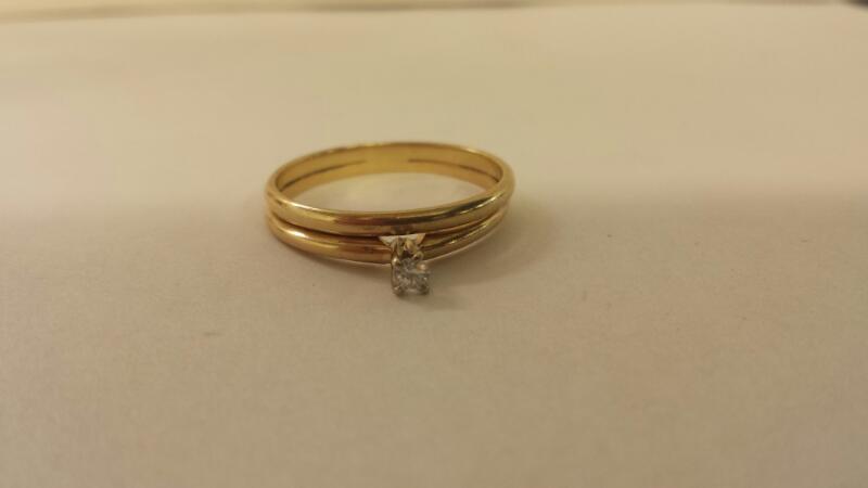 Lds 10K-Y/G Diamond Bridal Set