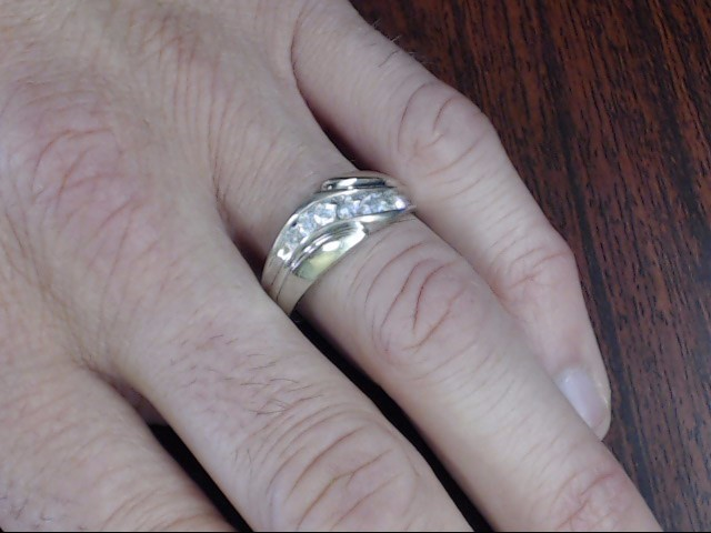 VINTAGE NATURAL DIAMOND WEDDING RING BAND SOLID REAL 14K WHITE GOLD