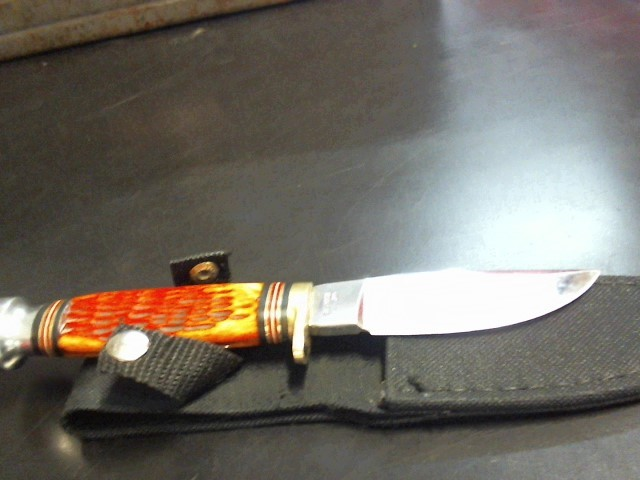 STEEL WARRIOR Pocket Knife 440 BOWIE KNIFE