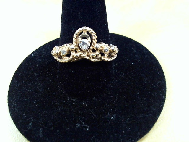 Lady's Diamond Solitaire Ring .13 CT. 14K Yellow Gold 3.6g