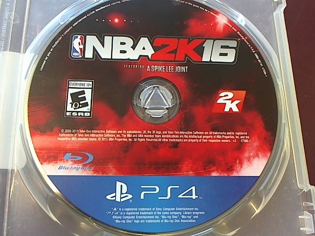 PLAYSTATION 4 NBA2K16