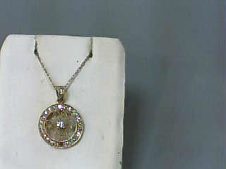 Diamond Necklace 50 Diamonds .50 Carat T.W. 14K Yellow Gold 1.2dwt