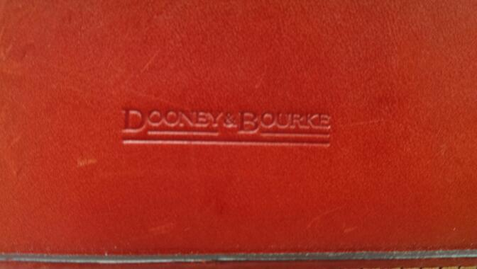 DOONEY & BOURKE RED SATCHEL HANDBAG