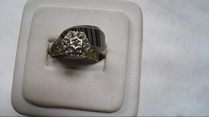Lady's Fashion 14K Flower Ring Yellow Gold Size 8.5