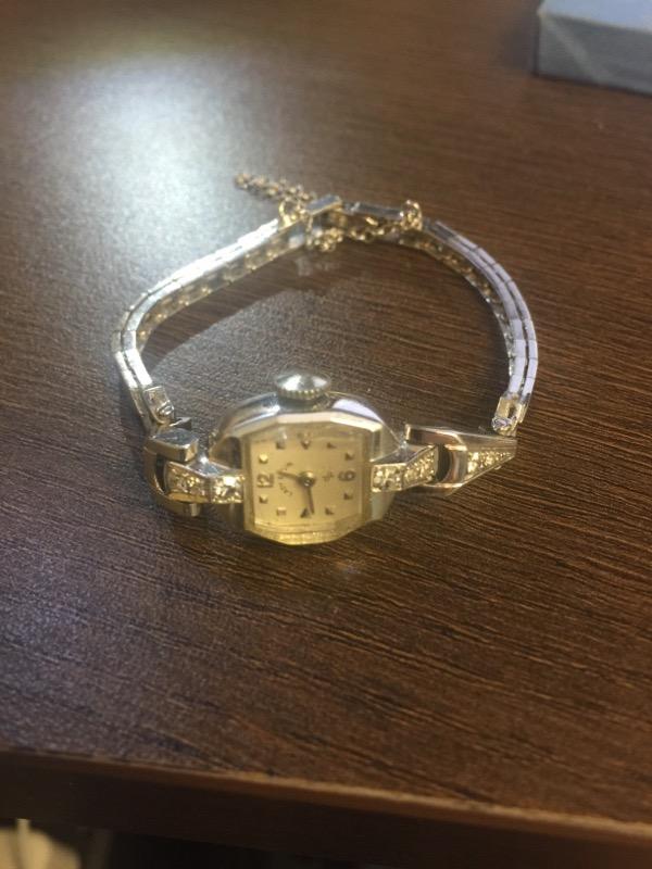 ELGIN Lady's Wristwatch 14k WG