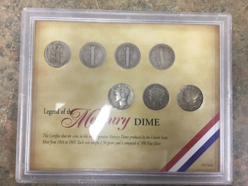 UNITED STATES Silver Coin LEGEND OF THE MERCURY DIME