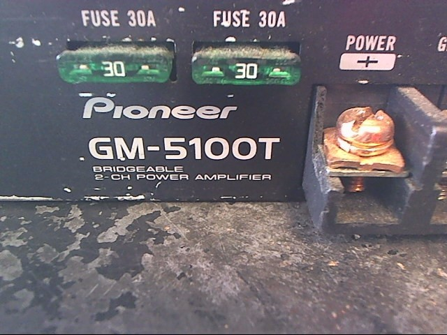 PIONEER ELECTRONICS Car Amplifier GM-5100T