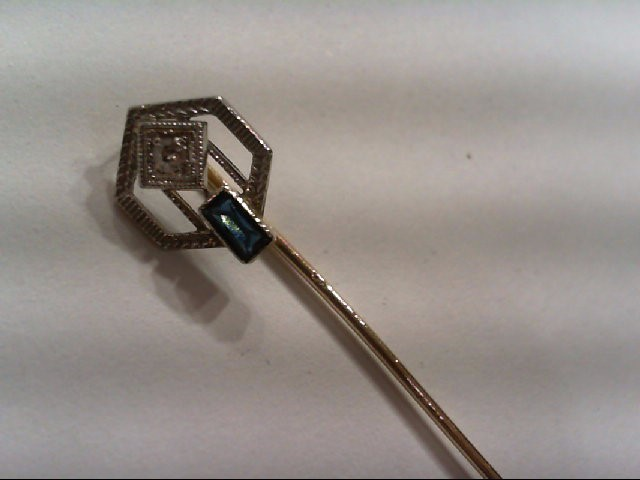 Gold-Diamond Brooch .06 CT. 10K 2 Tone Gold 1.23g