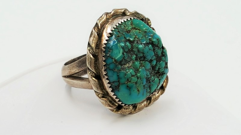 Lady's Turquoise & Sterling Silver Size: 10