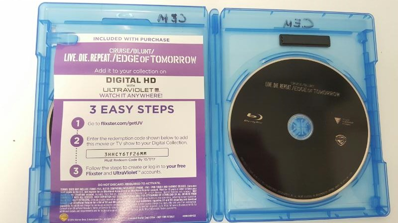 BLU-RAY MOVIE Blu-Ray LIVE. DIE. REPEAT/EDGE OF TOMORROW