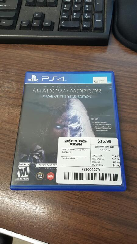 Middle-earth: Shadow of Mordor - Game of the Year Edition (Sony PS4)