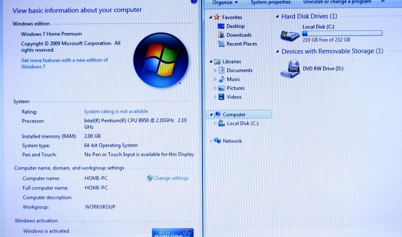 Dell Inspiron N5050 2GB RAM Pentium B950 2.10GHz 250GB Laptop *AS-IS*