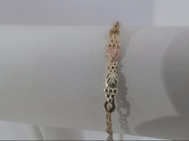 Gold Fashion Bracelet 10K Yellow Gold 1.1g