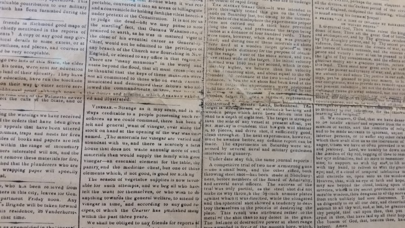 Charleston Daily Courier SC June 2nd, 1864 Confederate Newspaper Gen Lee