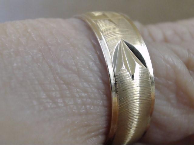 VINTAGE CHRISTIAN CROSS DESIGN WEDDING RING BAND SOLID 18K GOLD SZ 8