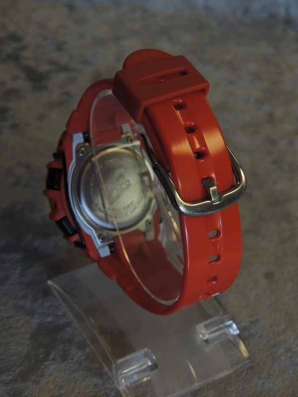 LN Casio Lady's BABY G Watch 3188 Red