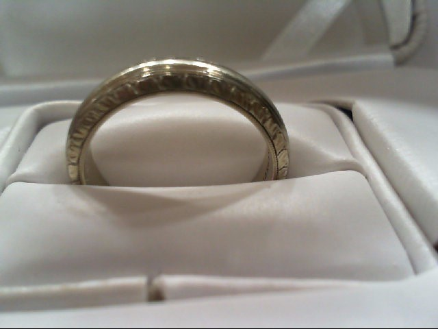 Gent's Gold Wedding Band 14K White Gold 7.4g