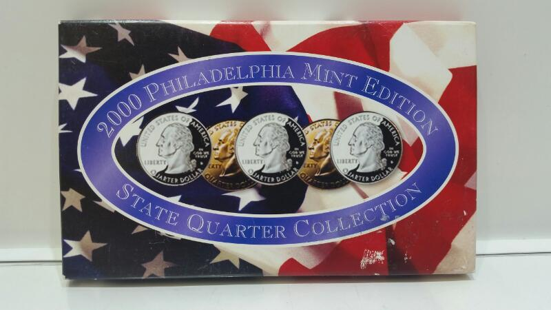 2000 Philadelphia Mint State Quarter Collection MA, MD, SC, NH, VA