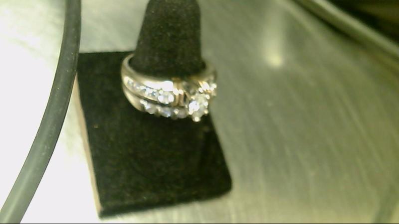Lady's Diamond Wedding Set 16 Diamonds .98 Carat T.W. 14K 2 Tone Gold 8.7g