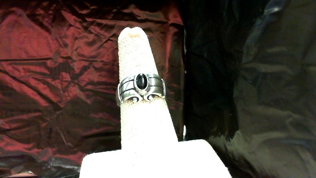Black Stone Lady's Silver & Stone Ring 925 Silver 6.9g
