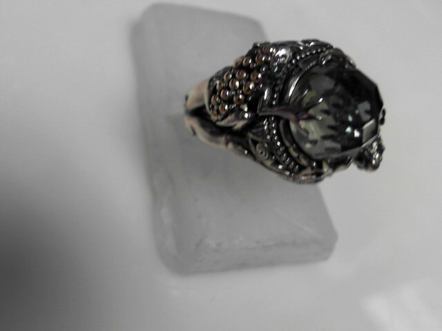 Sterling Silver Stone Ring 925 Silver 11.13g