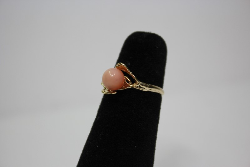 Pearl Lady's Stone Ring 14K Yellow Gold 2.4g Size:5.5