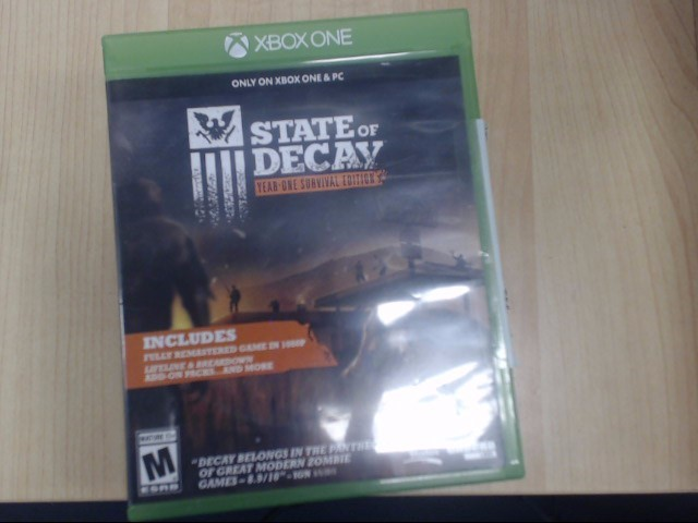 MICROSOFT Microsoft XBOX One Game XBOX ONE STATE OF DECAY