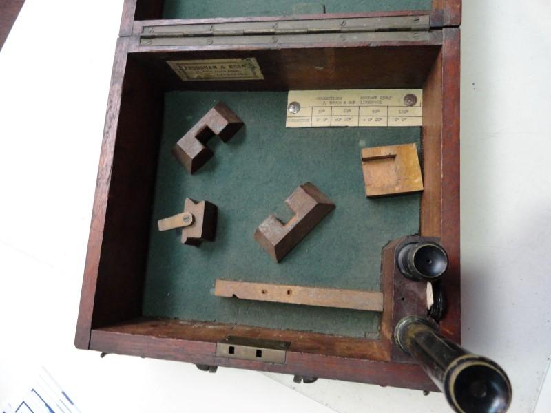John Bruce & Sons Sextant w/ Wooden Case